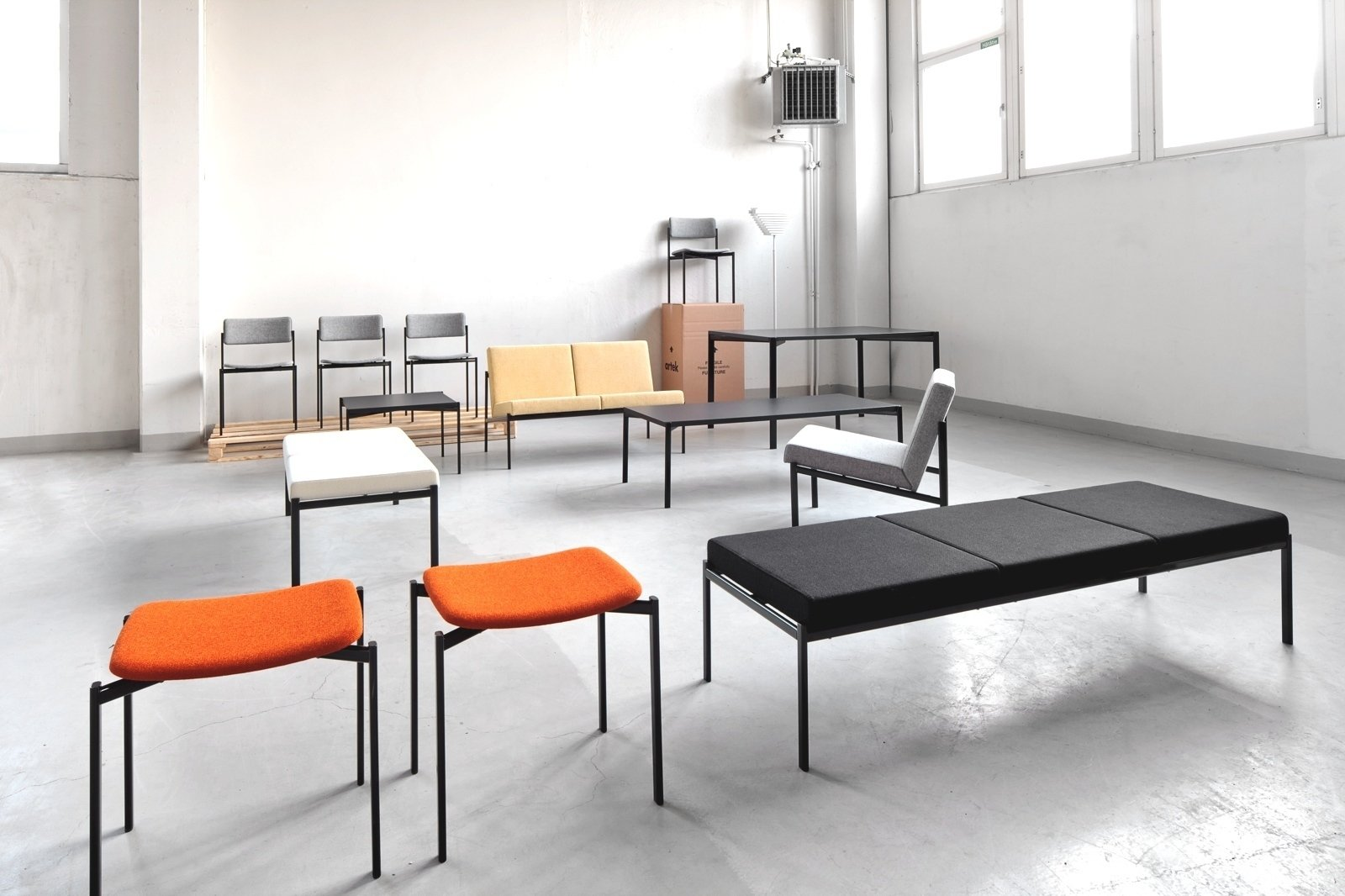 The Kiki series of chairs, tables, lounge chairs, benches, and sofas was designed by Tapiovaara in 1960. The oval steel tubing framework for the furniture is a departure from the bent plywood seen in the designer's earlier work. Artek reissued the line in 2013.  100+ Best Modern Seating Designs from Aalto Isn't the Only Finnish Modernist: Meet Ilmari Tapiovaara