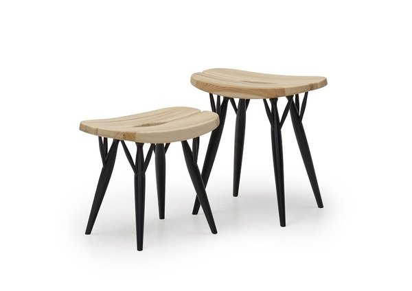 The Pirkka line for Artek from 1955—which includes this low stool—embody the the kind of organic modernism for which Finland is known. The versatile design is available in a range of heights (low, counter or high bar), wood finishes, and types of seating.  100+ Best Modern Seating Designs from Aalto Isn't the Only Finnish Modernist: Meet Ilmari Tapiovaara
