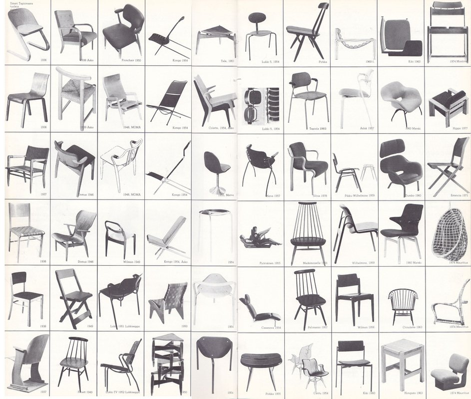 """A timeline of Ilmari Tapiovaara's multitude of chair designs. (For more sleuthing, we recommend the exhaustive fan site """"In Search of Ilmari Tapiovaara"""" for many, many more archival tidbits on the designer.)  Photo 1 of 10 in Favorite Chairs from Aalto Isn't the Only Finnish Modernist: Meet Ilmari Tapiovaara"""