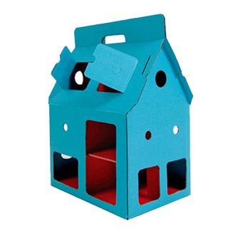 Your child's dollhouse can be modern too with this Kid on Roof's MobileHome. It is easy to assemble, structured with cardboard and customizable with crayons.