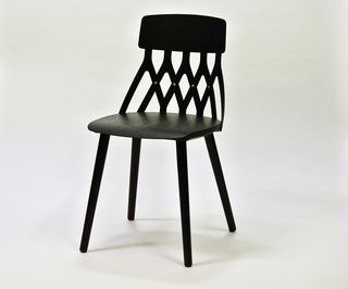 Y5, similar to Kallio's other chair collections including In Between is made of solid wood and form-pressed veneer.