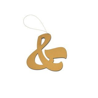 House Industries' Ampersand Ornament is an elegant take on the classic symbol. The typographic symbol also represents the idea of connectedness and is a thoughtful gift for a friend or loved one.
