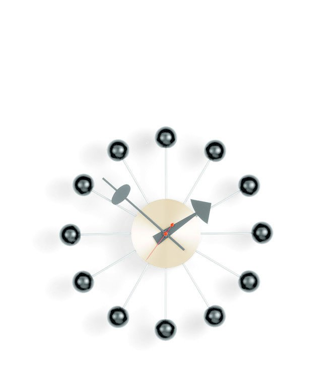 "Ball clock, designed by George Nelson. Loaned by Vitra Inc.  Available at the Dwell Store.  Search ""george-smart.html"" from An Exhibit Tells the Story of Legendary Design Brand Vitra"