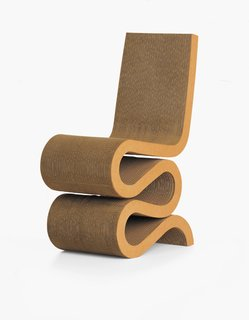 Wiggle Side Chair designed by Frank Gehry, 1972.