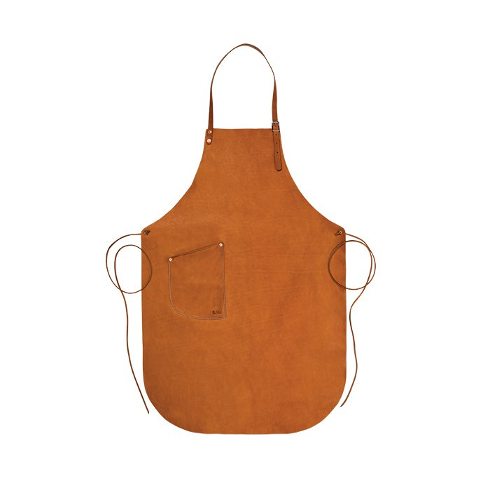 What's your go-to host gift?   My new favorite is a leather apron from Böle Tannery. Few things age more beautifully than a great piece of leather.  Leather apron from Böle Tannery, from $324.  Photo 1 of 6 in Ask the Expert: Gift-Buying Tips from Fredrik Carlström of Austere
