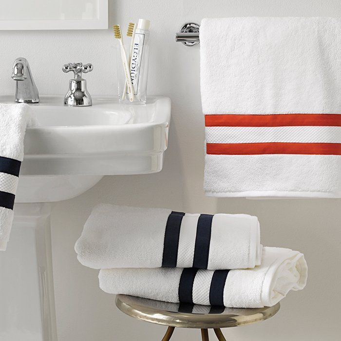 What's your favorite kind of towel?   Matouk. I also am a fan of the style of Scandinavian kitchen towel with simple blue or red stripes. I often use them as napkins at our country house in Wainscott, New York. They fit right in with the countryside aesthetic of Long Island's East End.  Bath towels from Matouk, $33.  Photo 2 of 6 in Ask the Expert: Gift-Buying Tips from Fredrik Carlström of Austere