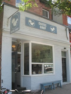 White Squirrel Coffee Shop  Named after the legendary albino squirrels that roam Trinity Bellwoods, this coffee establishment at the entrance of the park is a hub of activity, receiving heavy foot traffic. The coffee is good, fair-trade, and organic.