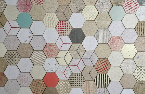 Made from 100% post-consumer paper collected from local businesses, Vancouver-based firm Dear Human's Wallpapering tiles are easy to install and can be printed or painted with custom designs.