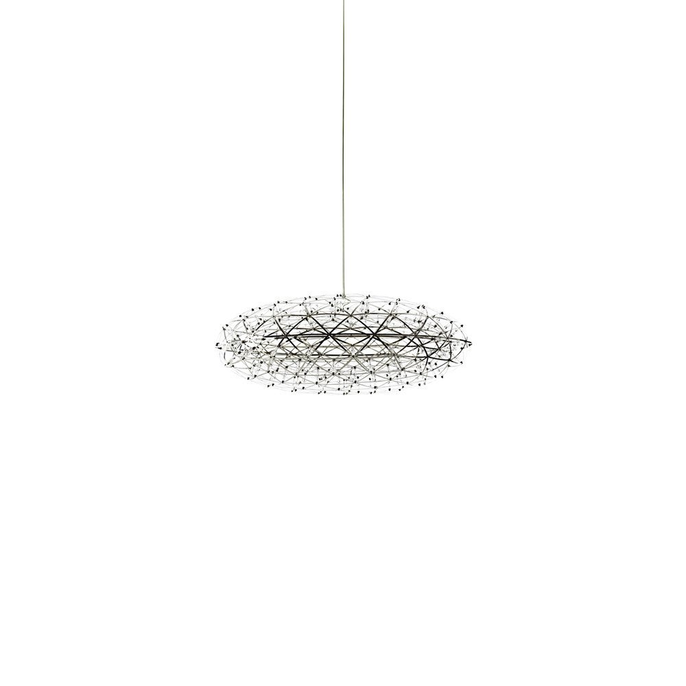 """The Raimond Zafu Pendant is a sculptural fixture inspired by the pure beauty of mathematics—it was created to be both systematic and organic, and resembles a star-filled sky when illuminated.  Search """"beat tall pendant light"""" from Sculptural Pendant Lights from Moooi"""