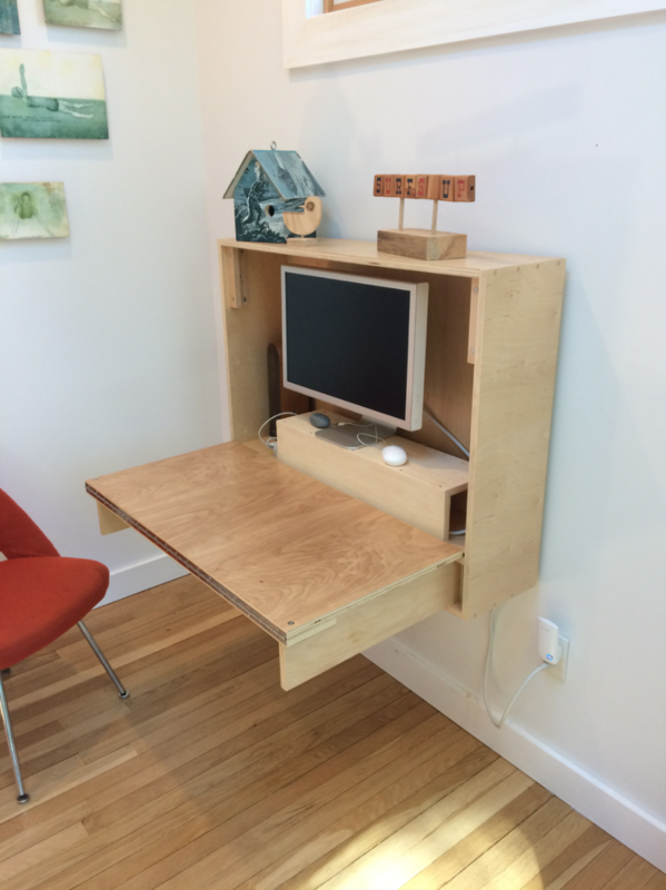 How To Build A Compact Fold Down Desk For Small Spaces By