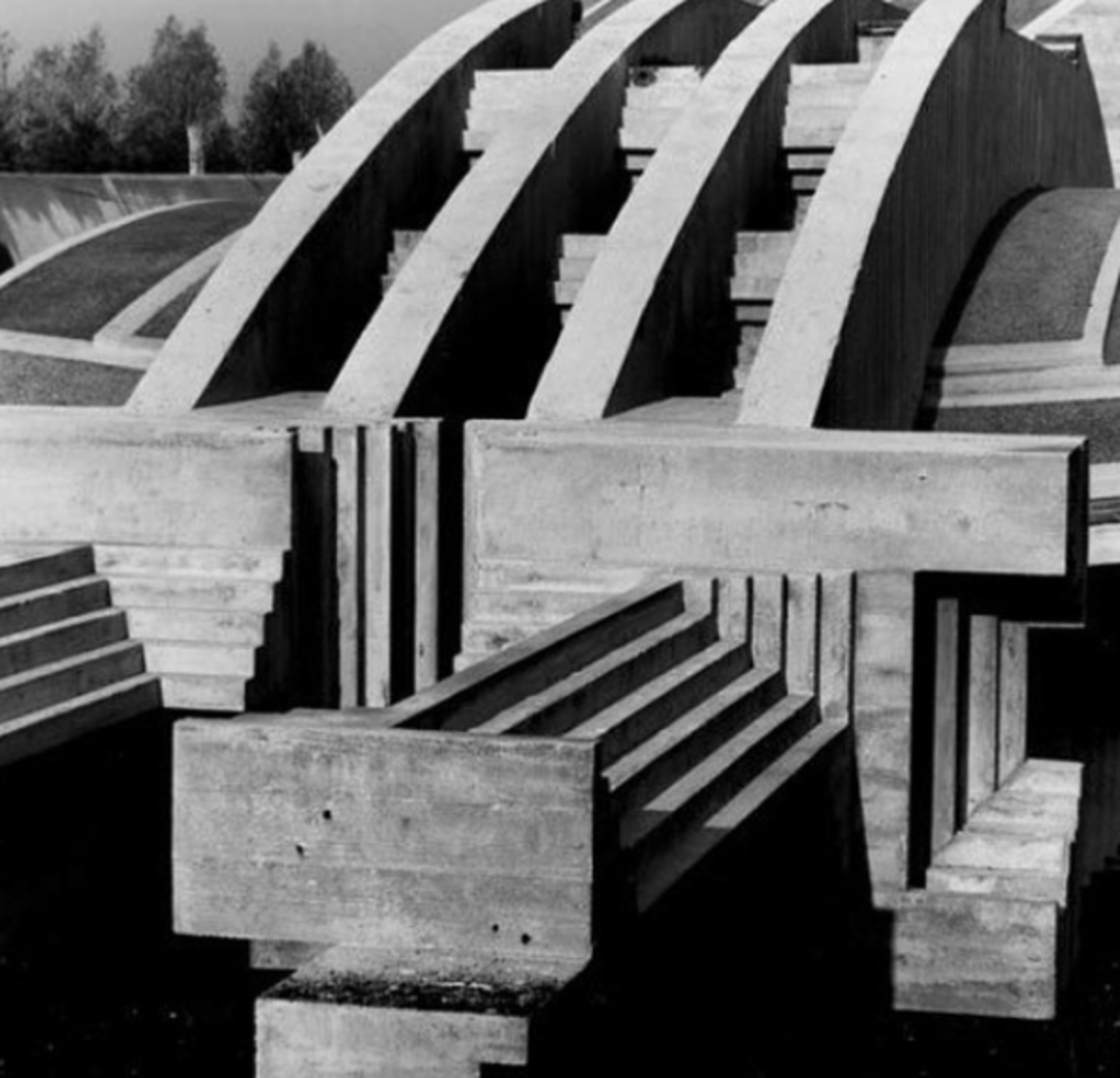 Carlos Scarpa's Brion Cemetery near Treviso, Italy.  buildings from Instagram Account We Love: NYC Handbag-Maker Delves Into Furniture Design