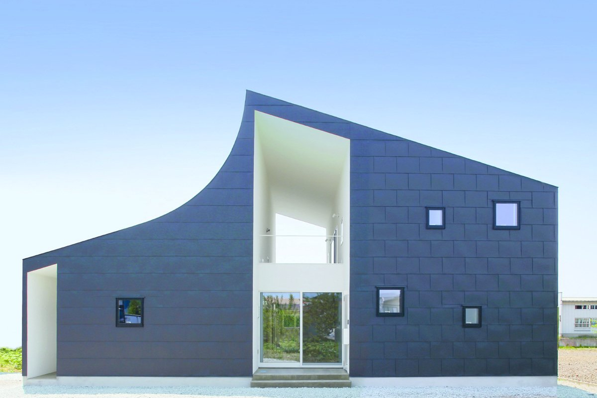 KHT House by International Royal Architecture, completed in 2013 in Kahoku, Yamagata Prefecture  Unabashedly Strange Houses in Japan from Boldly Modern Japanese Houses