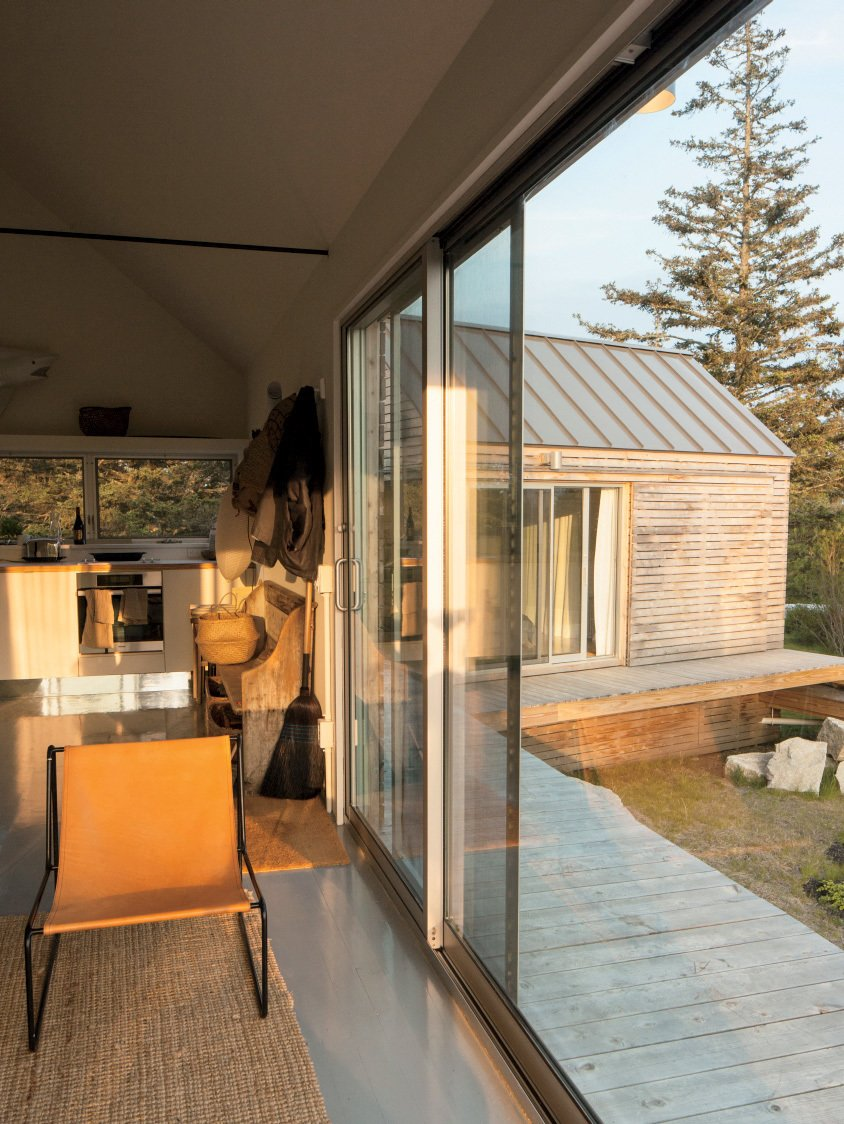 """We came to the island of Vinalhaven several years ago and immediately, totally fell in love.""—Nadja van Praag, resident  Photo 2 of 13 in A Cluster of Cabins in a Former Quarry Makes a Simple Vacation Escape"
