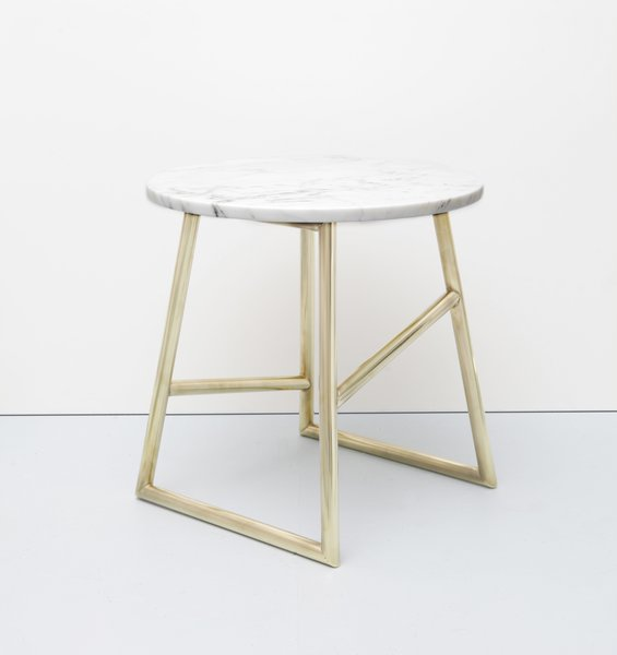 The Algedi Marble Side Table from Iacoli & McAllister is a versatile furnishing that carefully balances materials to create a striking accent. Comprised of a Carrara Marble tabletop that is fixed atop a powder-coated or plated steel base, the Algedi can be used in a variety of interior spaces, from living rooms and offices to bedrooms and guest rooms.