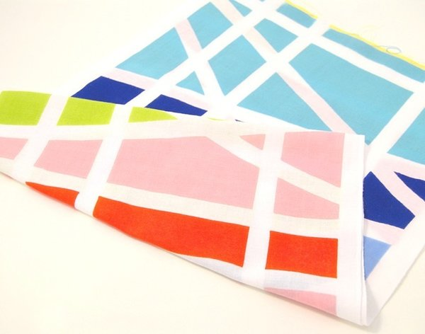 """Tenukore (2010)  These bright textiles are a modern take on traditional Japanese """"tenugui"""" handkerchiefs."""