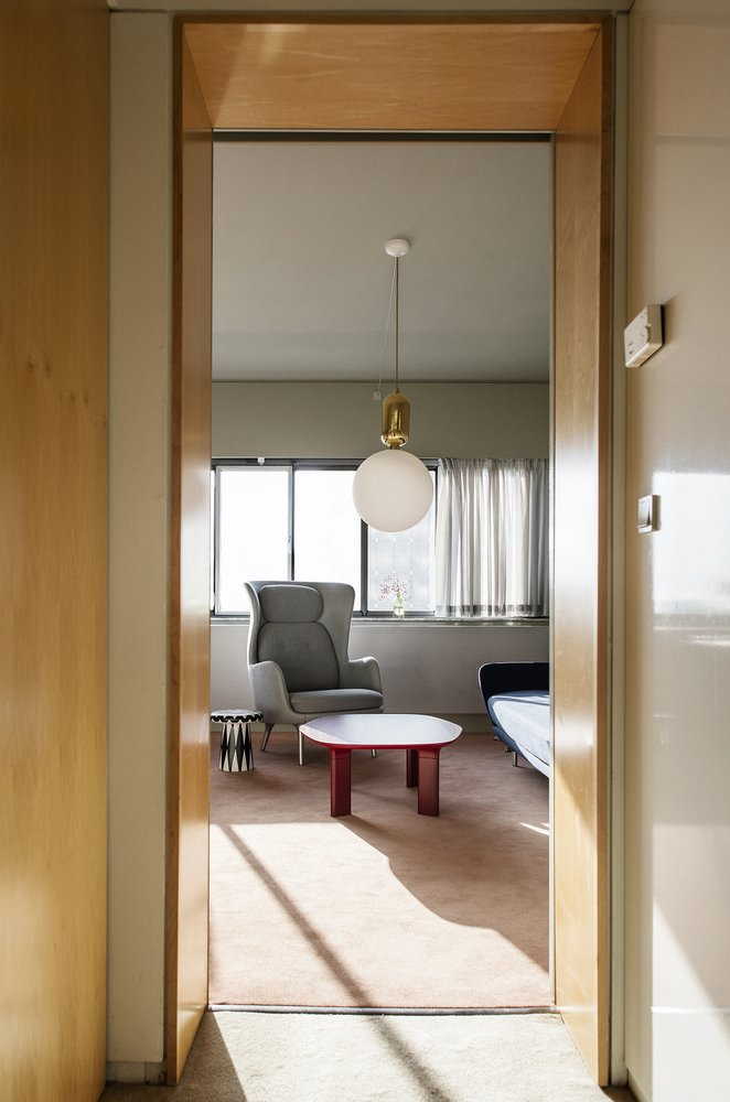 Spanish designer Jaime Hayon was invited to renovate room 506 in the Arne Jacobsen–designed SAS Royal Hotel, which is now called the Radisson Blu Royal Hotel. Hayon preserved the original interior architecture, but furnished the space with contemporary and reissued items.  Hospitality Favorites from Jaime Hayon Reimagines a Room in an Iconic Copenhagen Hotel
