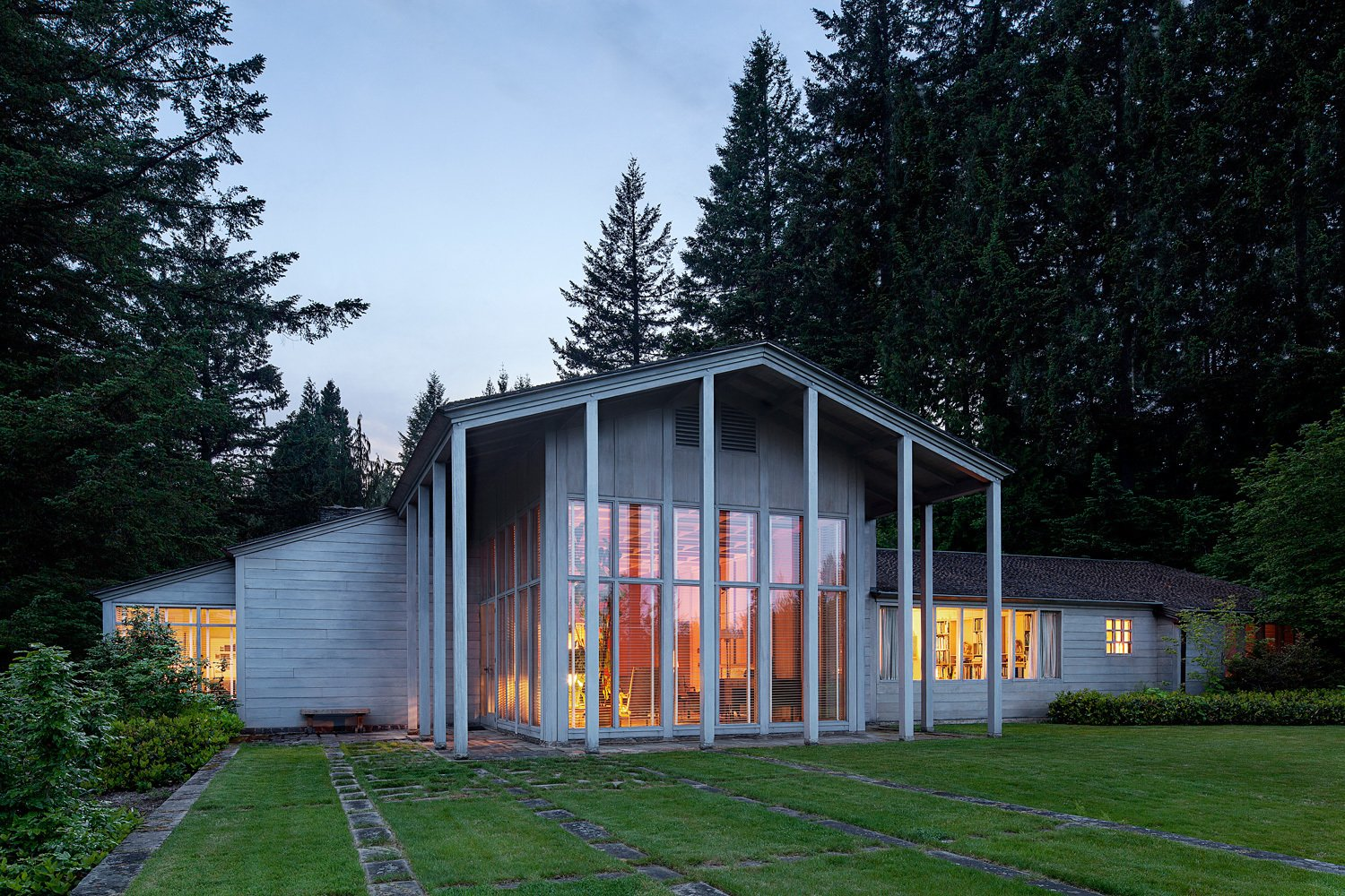 Exterior and House Building Type In the photos that follow, we take a look at the product offerings inspired by the house, which Yeon designed when he was only 27 years old.  Photos from Classic Modernist House in Portland Inspires a Lighting and Furniture Line