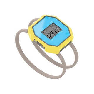 BareBands is an innovative watch that is designed for a variety of occasions. Featuring a digital face and typical sport functions like a timer and illuminating light, the watch can be used for athletic activities like running, biking, and—with twenty meters of waterproofing—swimming. The octagon-shaped face gives the watch a geometric, modern look that will communicate with daily wear.