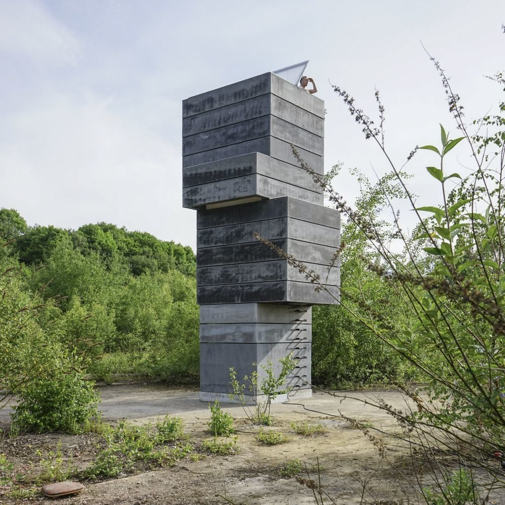 "This one-man sauna in Germany is created by three architects at modulorbeat, Marc Günnewig, Jan Kampshoff, and Sebastian Gatz. They were inspired by the nature of the former factory site, which reflects the changing state of manufacturing in the region. ""When we arrived, looking for a location, [we thought] it was so beautiful how the nature came back to the industrial site,"" says Kampshoff. ""We transformed it into a space with an urban quality.""  Cabins & Hideouts from Unusual Saunas"