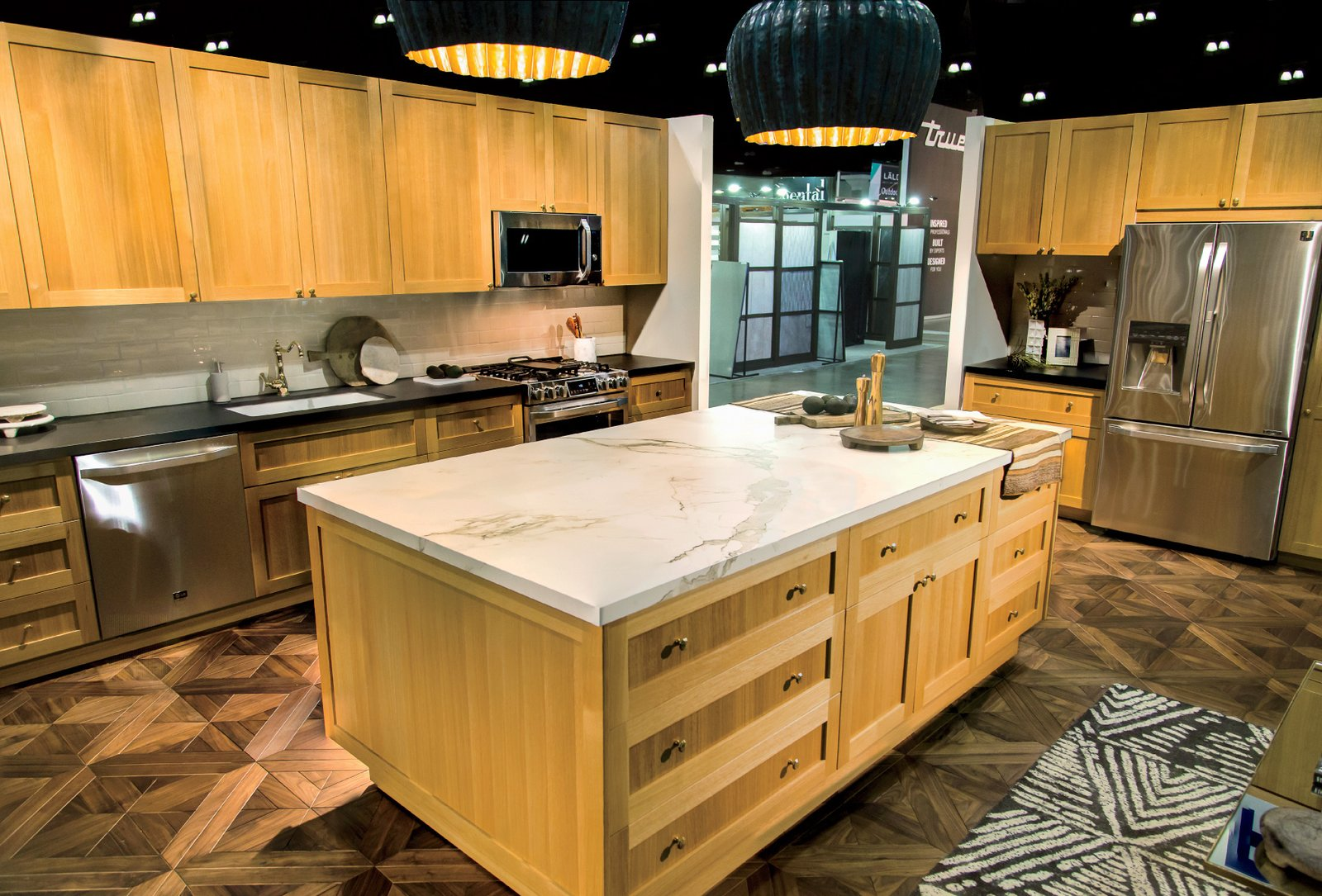 The larger kitchen vignette was decked out with LG Studio appliances that Berkus helped design.  Get Kitchen Inspiration from the LG Studio Re-Imagination Pavilion by Erika Heet
