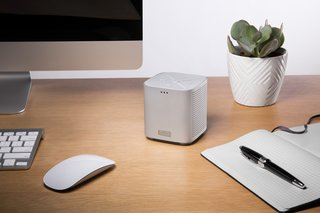 A simple four-inch cube with complex technological advances, the Bluetooth-enabled Beacon Blazar includes two internal speakers and an incorporated passive radiator sub-woofer, which yields balanced, natural sound. With only four buttons, the Beacon Blazar is also easy to operate.
