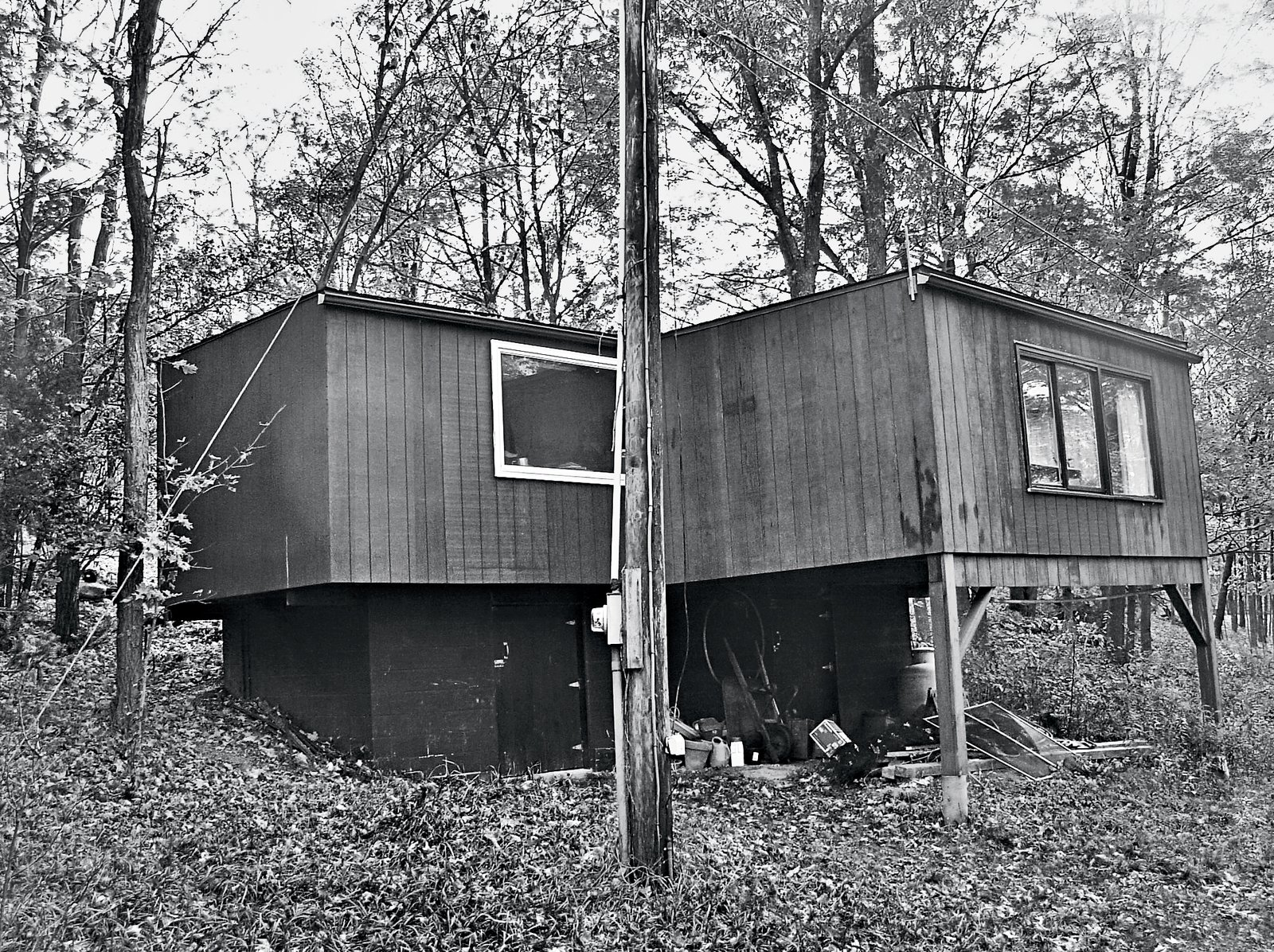 """As part of the renovation, Orenbuch removed an addition that he says was """"awkwardly supported on stilts.""""  Photo 7 of 13 in Can You Believe This House Used to be a Dilapidated Toolshed?"""