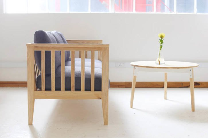 """The Skagen Settle. """"This piece is a combination of two ideas around our need for a timber-framed armchair,"""" Pedersen says. """"There is an old Cape-style settle at James' family farm on the West Coast which resonated with furniture from my own family heritage from Skagen, a seaside village in Denmark. The result is a piece which references both of these places for us and has a distinct mix of our forefathers and their approach to furniture.""""  Photo 10 of 16 in Two Cool Surfers Design Some Serious Furniture"""