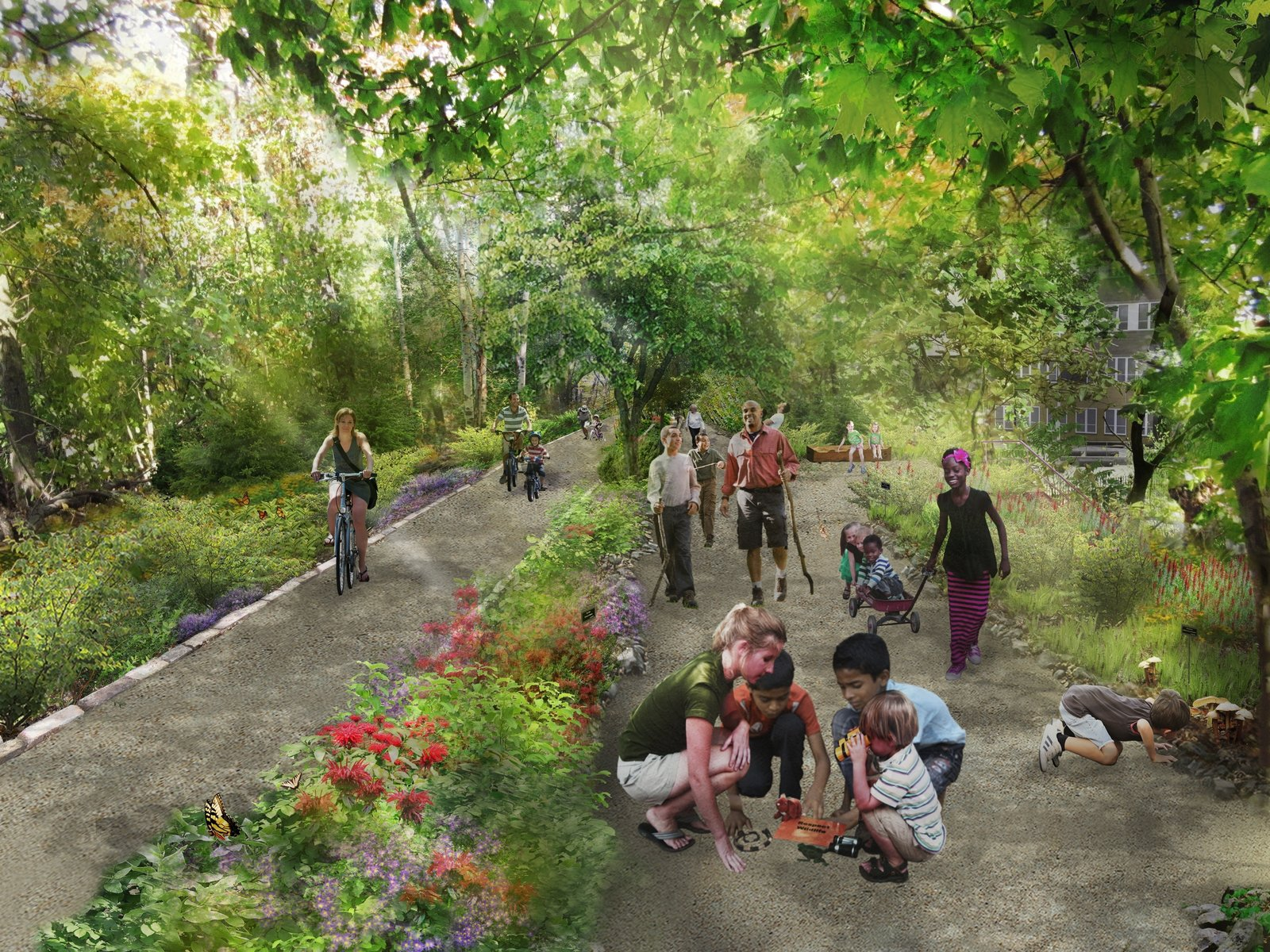 The QueensWay, as the proposed bike path and walkway is known, would connect Rego Park to Ozone Park. Its estimated $122 million price tag might be paid for through a mix of public and private funding.  Photo 5 of 5 in Discover How Parks Can Protect Cities from Natural Disasters at Dwell on Design New York