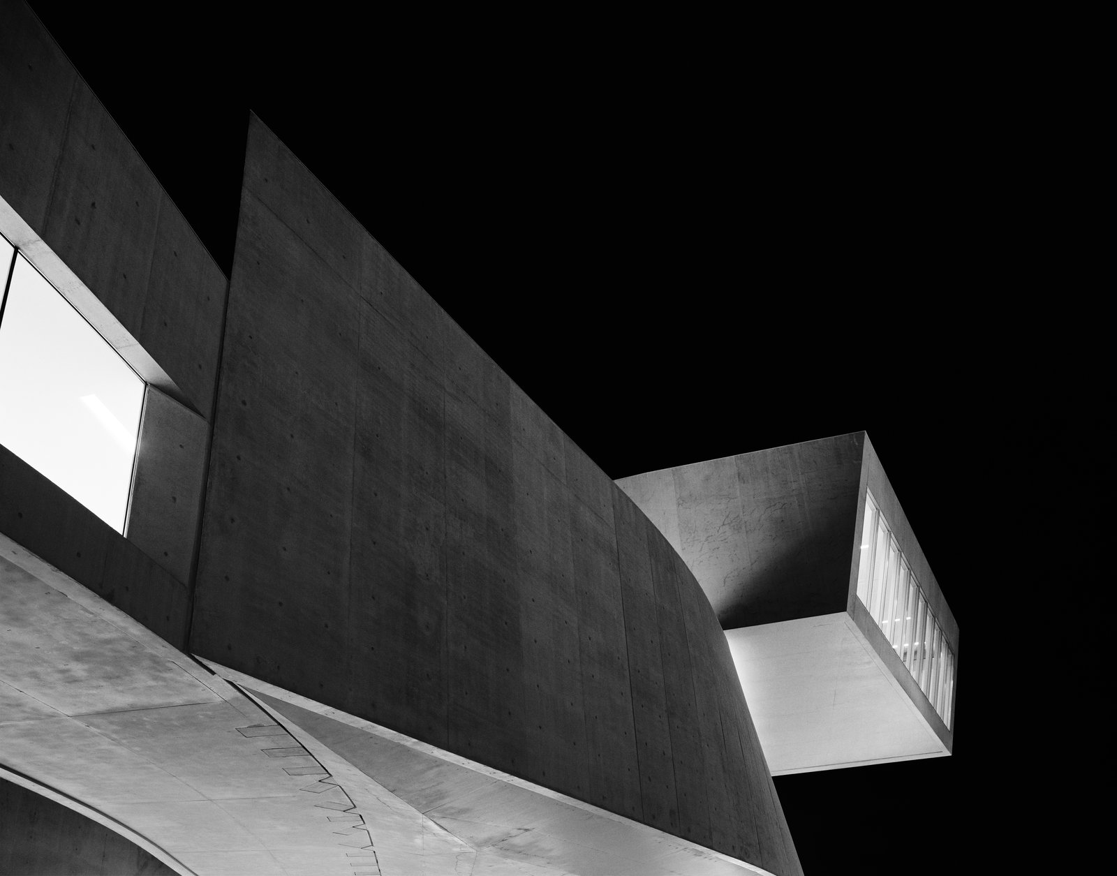 Maxxi Diptychon, Zaha Hadid, 2009, silver gelatin print.  Photo 1 of 8 in A New Los Angeles Exhibition Celebrates the Architectural Photography of Hélène Binet
