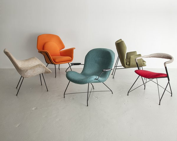 Where as many designers and architects created highly handcrafted pieces of furniture, Martin Eisler and Carlo Hauner developed Brazilian design by venturing into mass-production with their company Forma. These lounge chairs were produced by Forma in Brazil during the 1950s and 1960s.