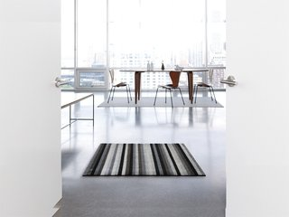The Shag Even Stripe mats are available in three sizes.
