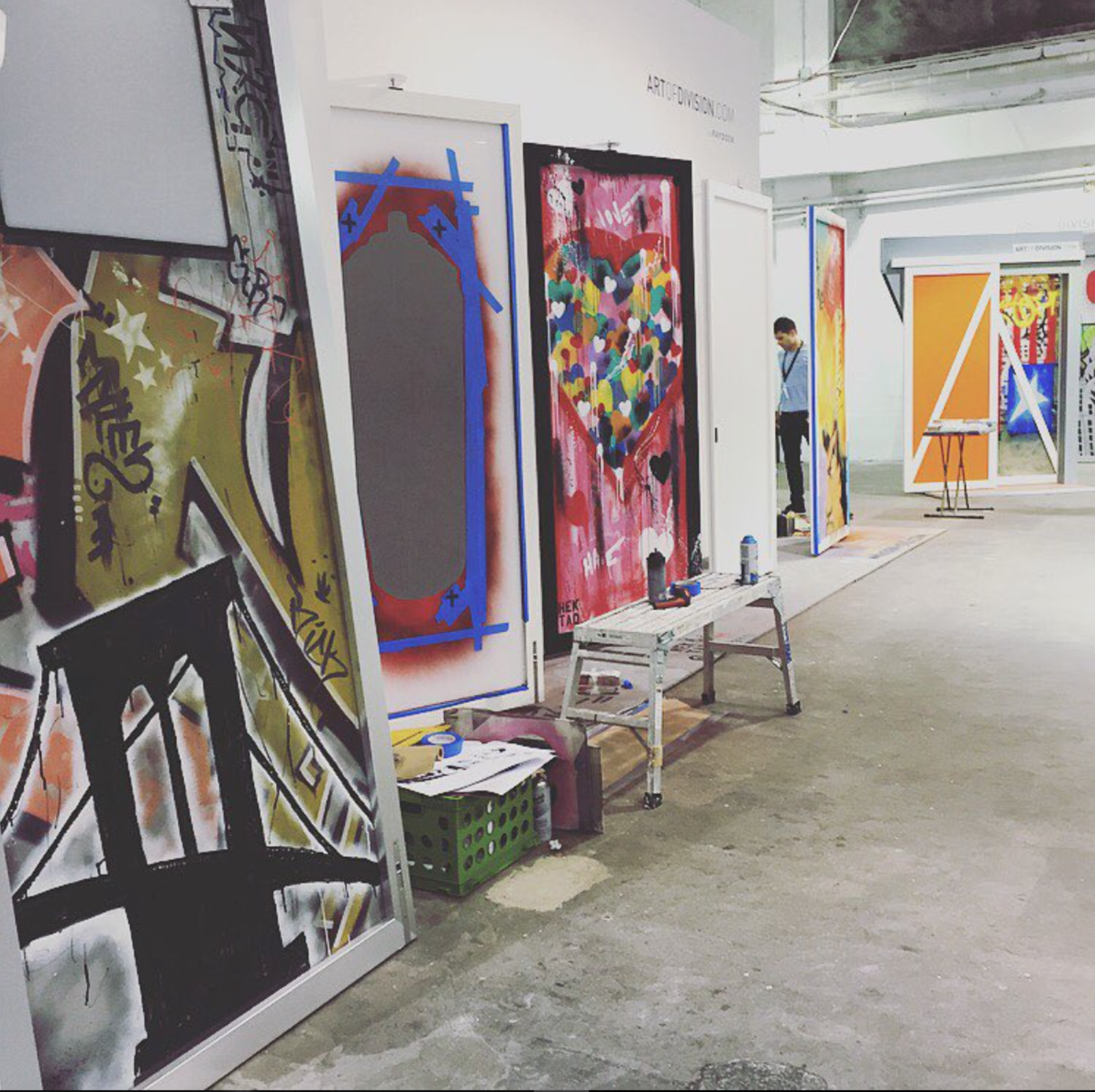 @youngandlaramore shared this picture of Raydoor's handpainted doors.  Dwell on Design New York: Day One Highlights by Dwell