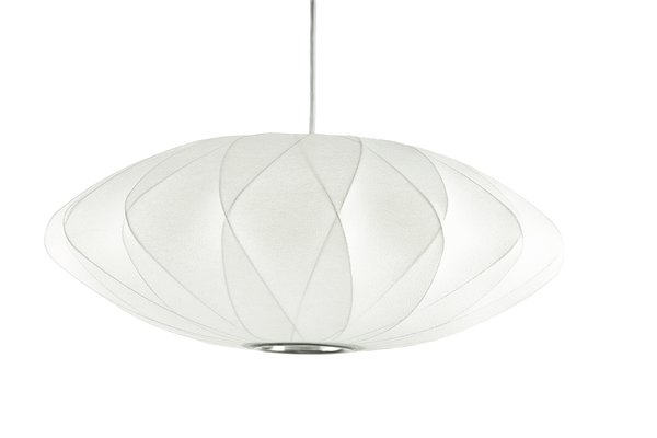 This Saucer Pendant showcases the Criss Cross technique used in many Bubble Lamps.  Other Criss Cross Styles include Ball, Pear, and Cigar.