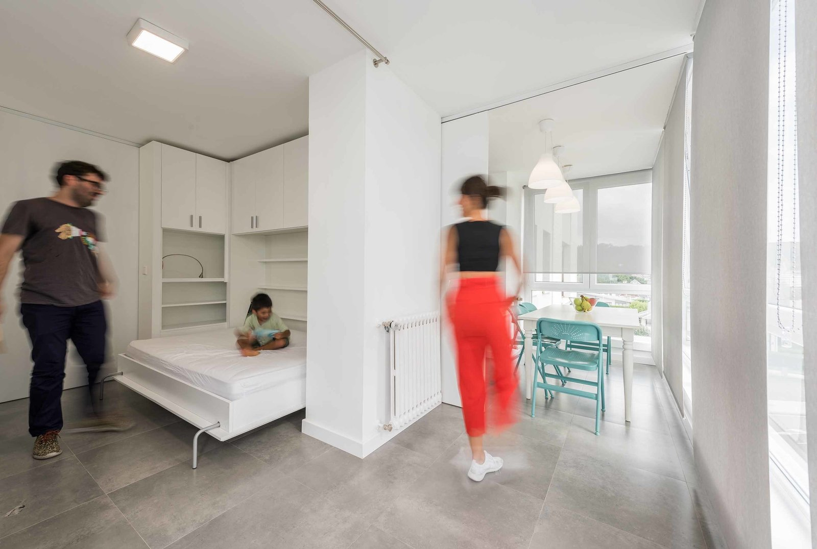 Movable Walls Instantly Transform A Small Vacation Home From Two Bedroom To Studio