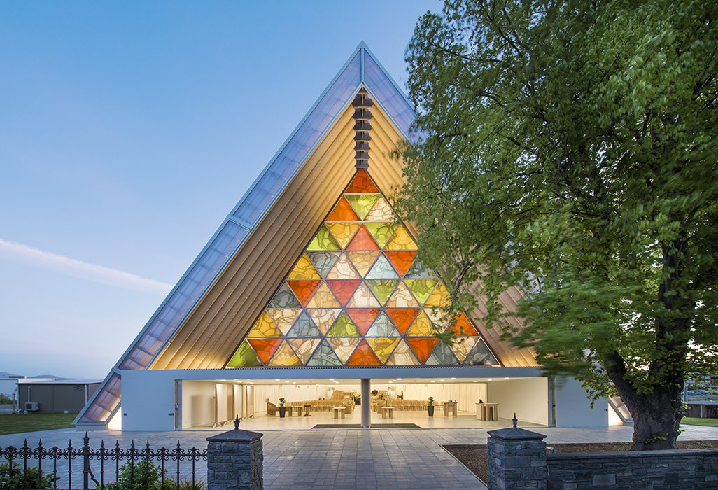 A polycarbonate roof and walls made of recycled shipping containers insulate the structure and protect it from rainfall.  Photo 12 of 21 in You Won't Believe That These Incredible Modern Buildings are Chapels and Synagogues