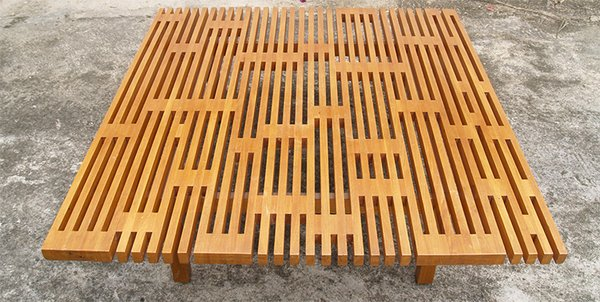 Arroyo designed this slatted-wood coffee table in 1956.