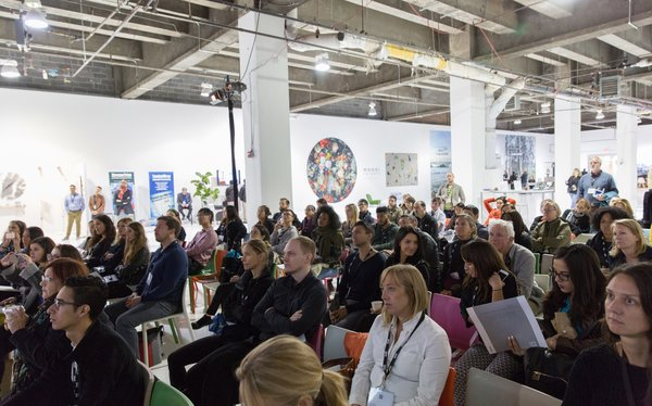 Situated among the installations were two stages featuring continuing-education seminars and other design conversations, all led by Dwell editors.
