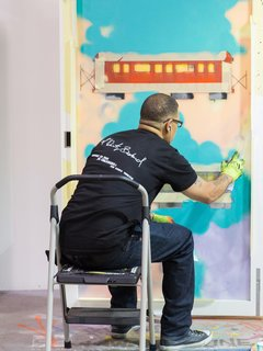 Raydoor hosted a live-art installation that continued throughout the conference.