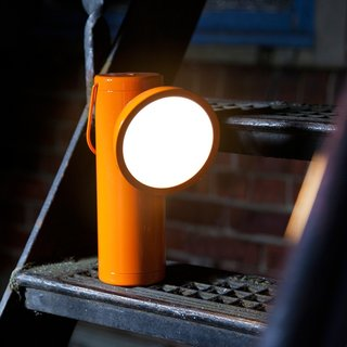 The innovative Wireless M Lamp was inspired by miners' lamps of the 19th century. Designed by British designer David Irwin for Juniper, the M Lamp is a portable task lamp that is designed with portability in mind.