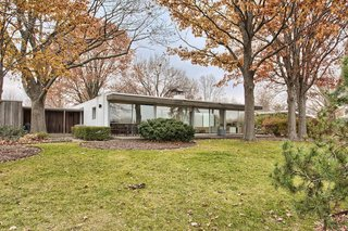 Architect: John Replinger  Location: Urbana, Illinois  Price: $296,000  Replinger may not be as hallowed a name as Kahn or Meier, but the 1960s-era one-story home he designed in Illinois a worthy descendant of Glass House-style American modernism. Bonus? It's already been meticulously renovated. [via Curbed]