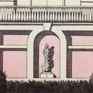 His illustrations have a keen eye for architectural detail.