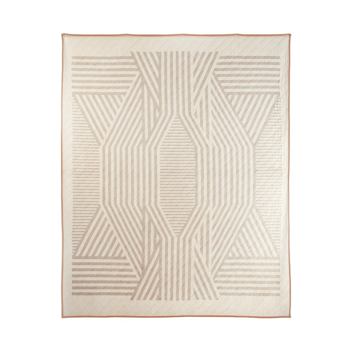 """The ADA Quilt—another Meg Callahan collaboration, though with MatterMade—features another geometric design rendered in subtle neutral tones.  Search """"memoriam ada louise huxtable"""" from Modern Quilts for Winter"""