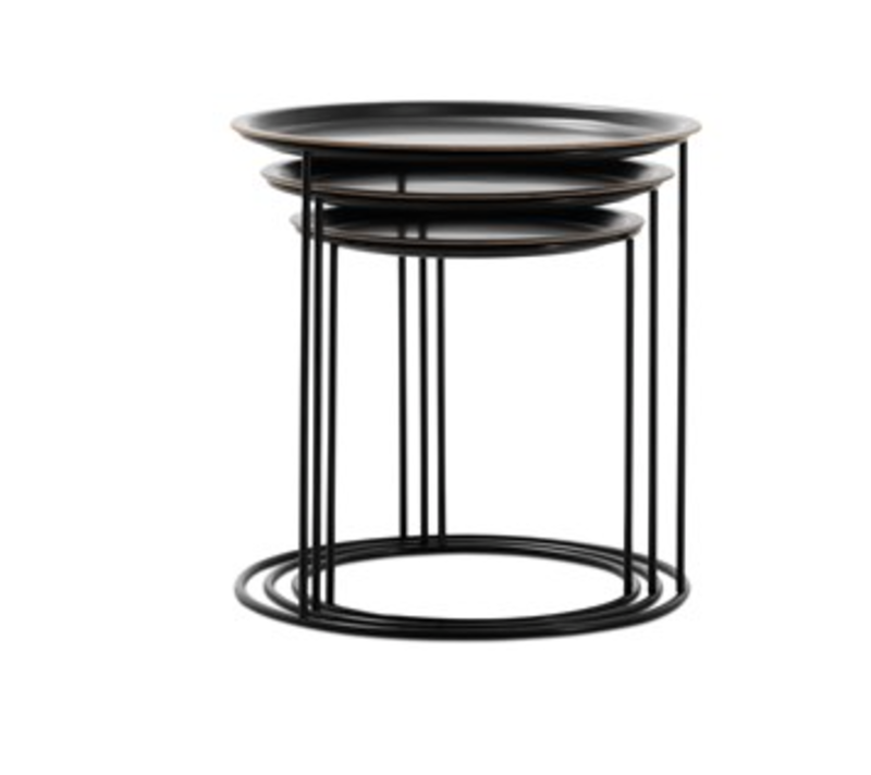 Cartagena Nesting Tables by BoConcept, $539 from boconcept.com/en-us  This tiny trio from BoConcept offers the surface area of three tables for the footprint of one.