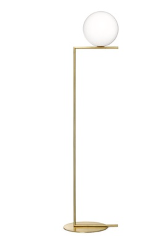 IC Light F2 by Michael Anastassiades for Flos, $1,295 from store.dwell.com  Part of the Flos IC Light series, Michael Anastassiades's floor lamp is a striking exercise in balance.