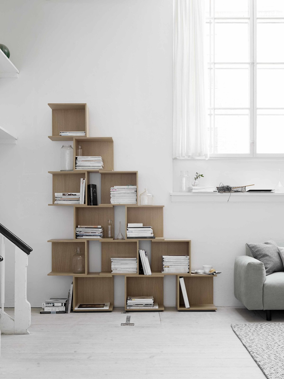 "The Chain shelving system by Nendo for Hem takes customizable home storage to the next level, allowing users to build elaborate box ""chains"" using specially designed connectors.  Living from Awesome Modular Furniture for Customizing Your Home"