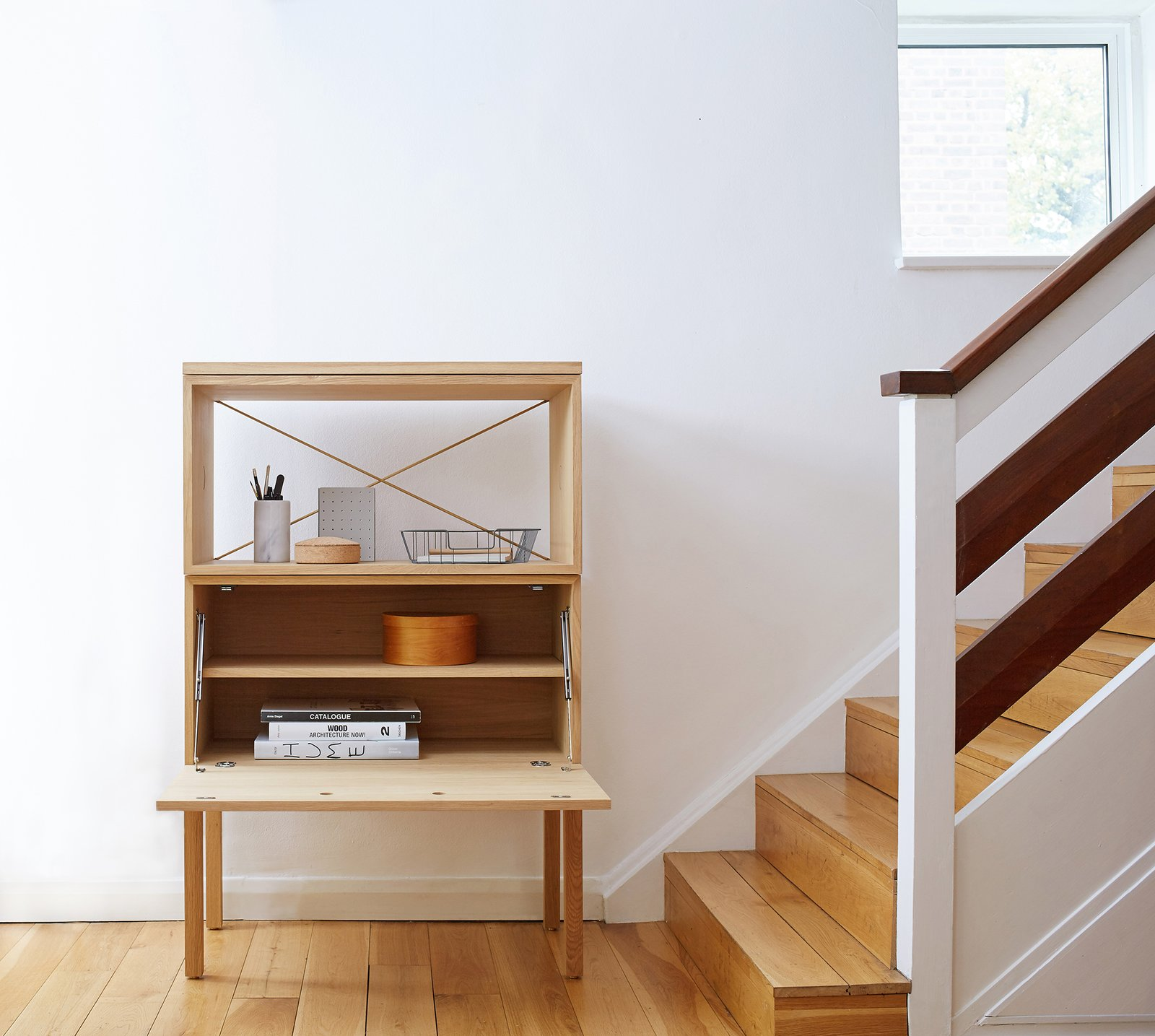 British brand Beynon specializes in clever adaptions of accessible 1950s modular furniture, like their compact bureau with removable shelves.  Shape-Shifters: Modular Furniture