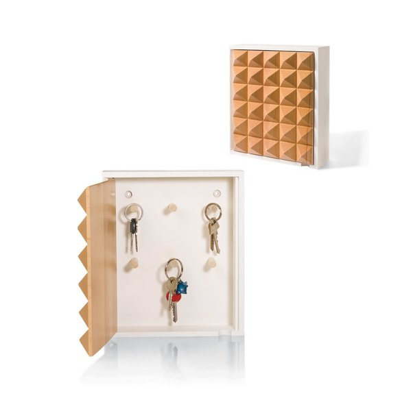 Korridor Pyramid Key Box, $72   With a textured birch surface, storing keys has never looked better.