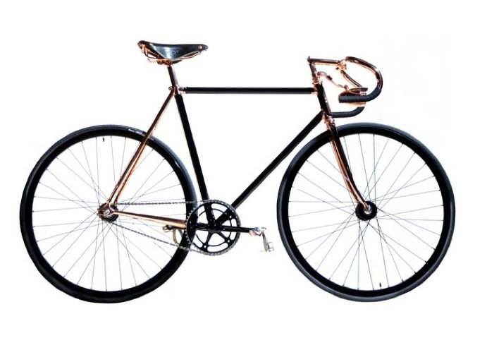 This fixed-gear from the Detroit Bicycle Company features high-end mechanical components from Cinelli, Campagnolo, and Vittoria Zaffiro, as well as a copper-plated frame that is custom made to match your measurements.  Commute in Style with a Modern Bicycle by Luke Hopping
