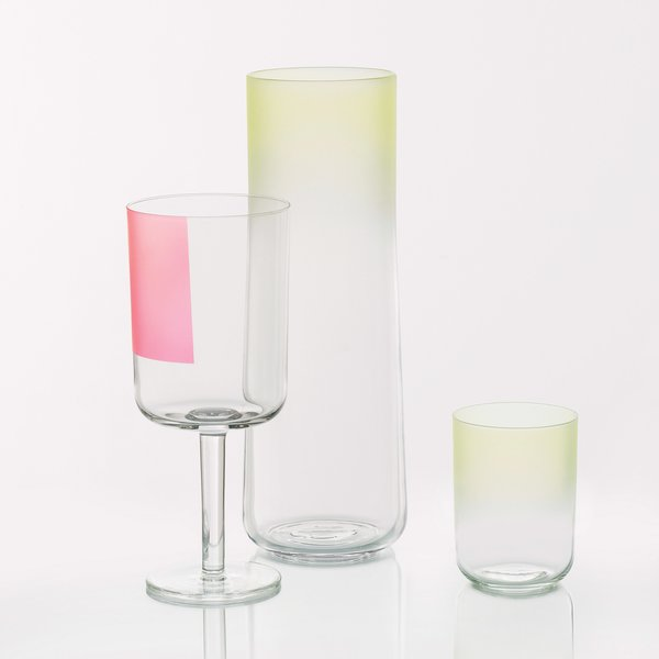 Hay Colour Glass Collection, from $12  Scholten & Baijings applies subtle pastel gradients to this collection of glasses and flutes.