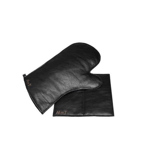 MWT Calf's Leather Glove and Potholder Set, $95  These supple calfskin items are made in France.